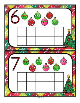 Free Christmas Counting and 10-frames 0-10 Center