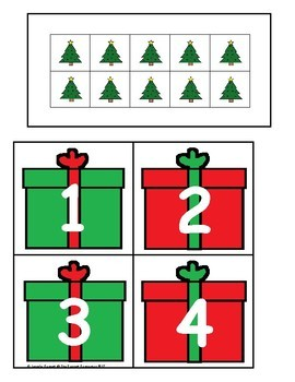 Christmas Counting and Cardinality Centers for Kindergarten