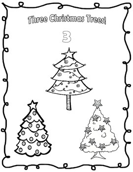 Christmas Counting and Coloring Pages!