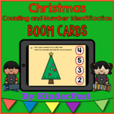 Christmas Counting and Number Identification - Boom Cards