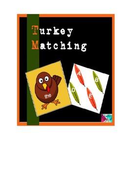Turkey Sight Word Cards