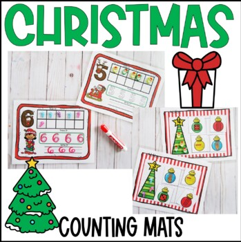 Christmas Counting and Subitizing Mats