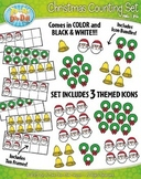 Christmas Counting and Ten Frames Math Clipart {Zip-A-Dee-Doo-Dah Designs}