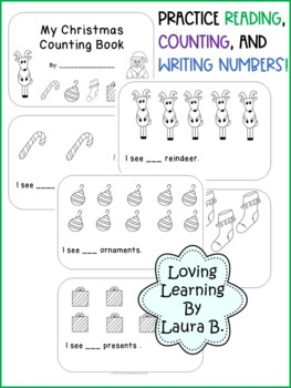 Christmas Counting book for Pre-K and K, Numbers 1-10