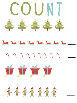 Christmas Counting for Preschool