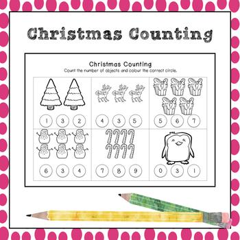 Christmas Counting to 10