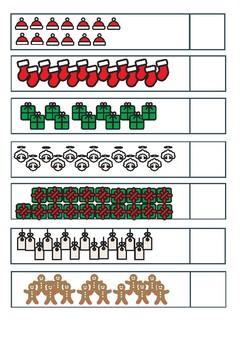Christmas Counting up to 20 printable maths worksheet