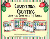Christmas Counting with Ten Frames {Subitizing}