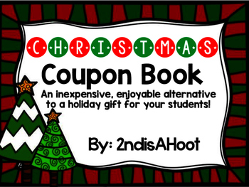 Christmas Coupon Book- An Alternative to a Buying a Student Gift