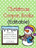 Christmas Coupon Book (Editable)