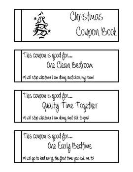 Christmas Coupon Book for kids