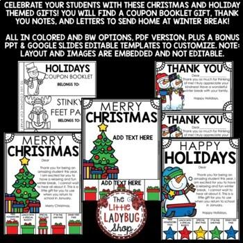 Christmas Coupons Book Gifts EDITABLE