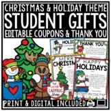 Editable Christmas Gift Tags Student, Holiday Gift Tags & Christmas Coupon Book