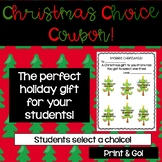 Christmas Coupon Gift Students
