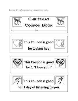 Christmas Coupons--A Child's Gift to Their Loved Ones