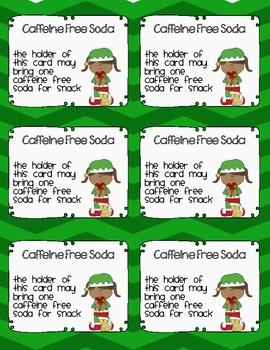 Christmas Coupons Green