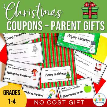 Christmas Coupons No Cost Parent Gifts by Alison Hislop | TpT