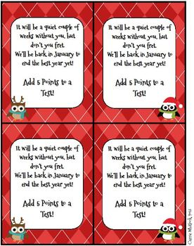 Christmas Coupons - Student Gift FREE!