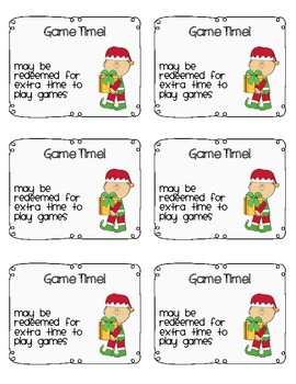 Christmas Coupons White