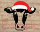 Christmas Cow Head svg clipart Farm Milk Santa Claus props 920S