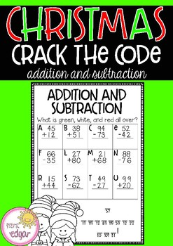 Christmas Crack the Code | Addition and Subtraction