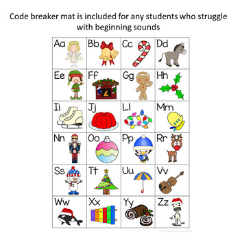 Christmas Crack the Code Cards - CVC Words Bundle