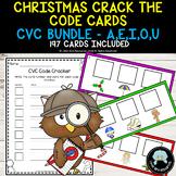 Christmas Crack the Code Cards - CVC Words Bundle