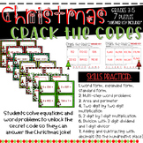 Christmas Crack the Code Math Task Cards