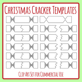 Christmas Cracker Template.Christmas Cracker Match Up Puzzles Templates Clip Art Set Commercial Use