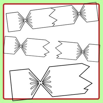 Christmas Cracker Match Up Puzzles Templates Clip Art Set Commercial Use