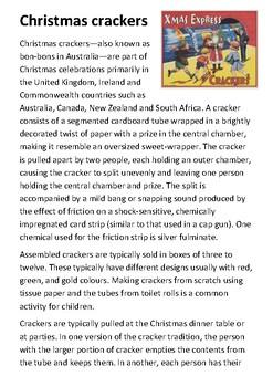 Christmas Crackers Handout