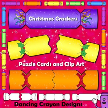 Christmas Crackers - Puzzle Cards and Clipart