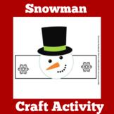 Christmas Craft | Preschool Kindergarten | Snowman Activity