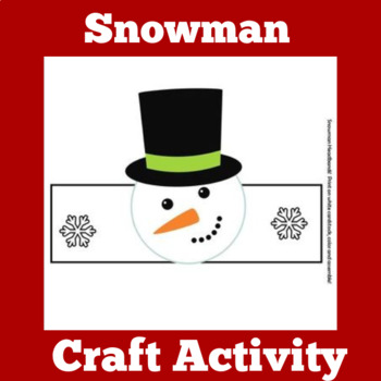 Winter Craft | Winter Activity | Snowman Craft | Snowman Activity