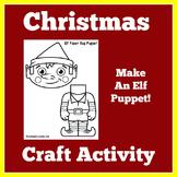 Elf Craft | Elf Puppet | Elf Craftivity | Christmas Craft Night