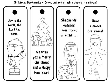 Christmas Craft | Christmas Activity | Christmas Bookmarks