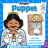 Angel Craft Activity | Printable Paper Bag Puppet Template