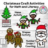 Christmas Craft Activities: Math, Literacy (Name, Shape, A