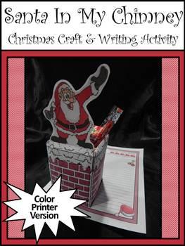 Christmas Craft Activities: Santa In My Chimney Christmas Craft-Writing Activity