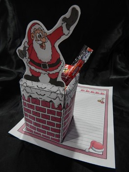 Christmas Craft Activities: Santa In My Chimney Christmas Craft-Writing Activity
