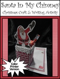 Christmas Craft Activities: Santa In My Chimney Christmas Writing Activity-Color