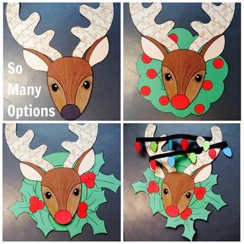 Christmas Craft - Reindeer Wreath