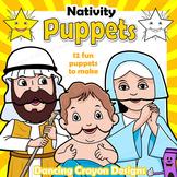 Christmas Craft Activity | Holiday Printable Paper Bag Nativity Puppets
