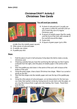 Christmas Craft Activity Pack- Step by Step with Photos