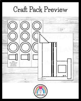 Polar Express Book Companion Crafts: Mug, Pajama & Conductor Kids, Hat, Train