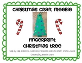Christmas Craft FREEBIE ~Fingerprint Tree Ornament~ with poem