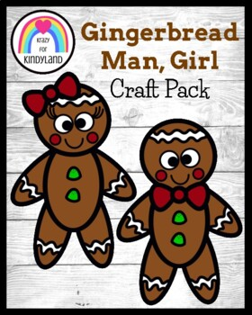Gingerbread Man Kids Craft (Christmas)