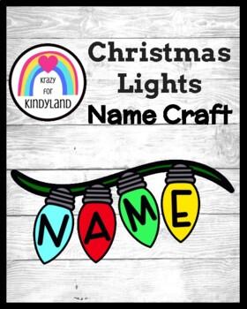 Christmas Craft: Name Lights