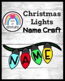 Christmas Lights Name Craft
