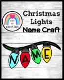Christmas Lights Name Craft